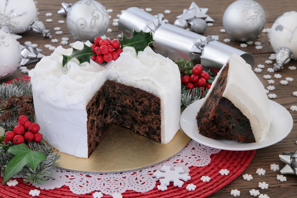 A Christmas cake with icing Pic: Istockphoto