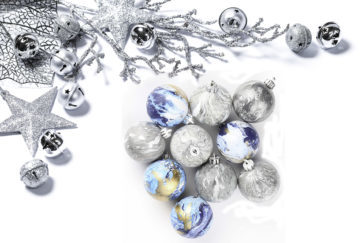 Marble baubles Background pic: Istockphoto