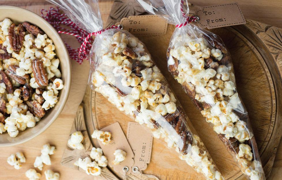 Caramalised and Salted Pecan Popcorn