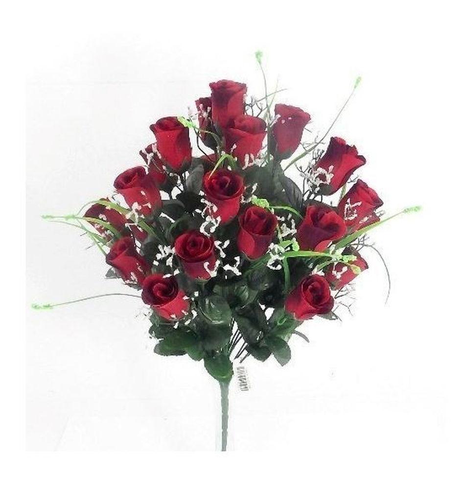 Artificial Silk Red Rose Arrangement