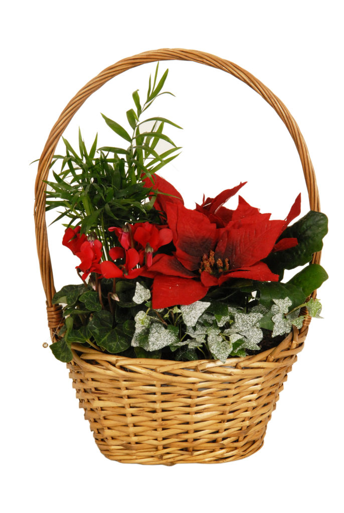 Classic Christmas Basket Red