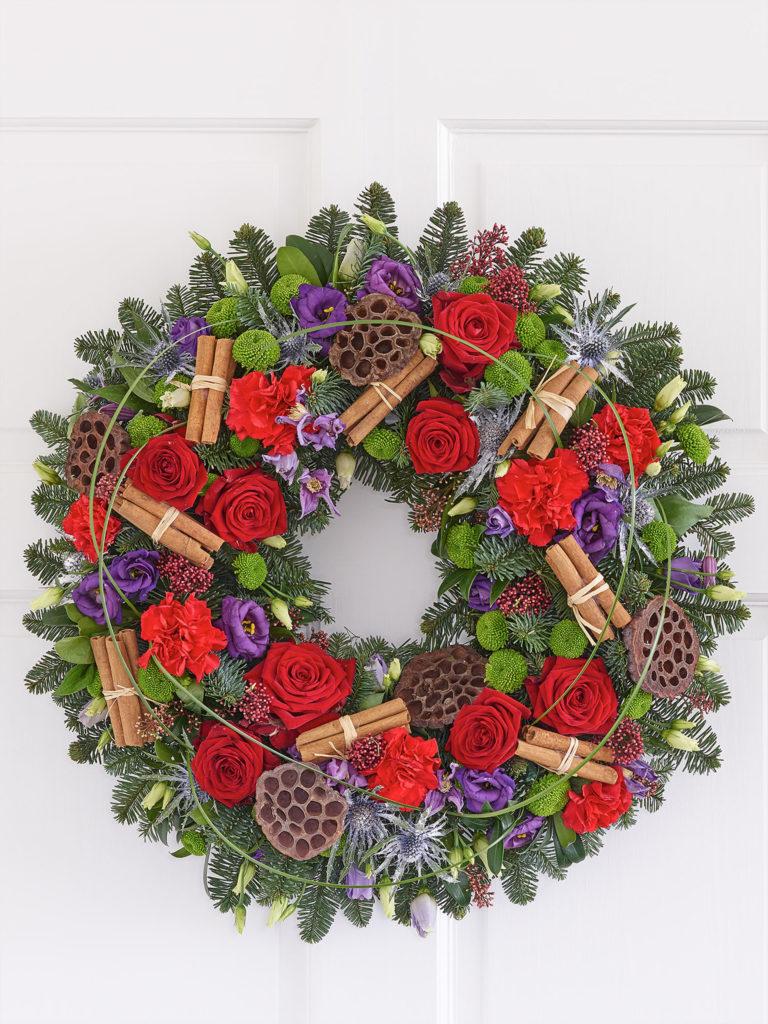 Nordic Charm Deluxe Christmas Door Wreath