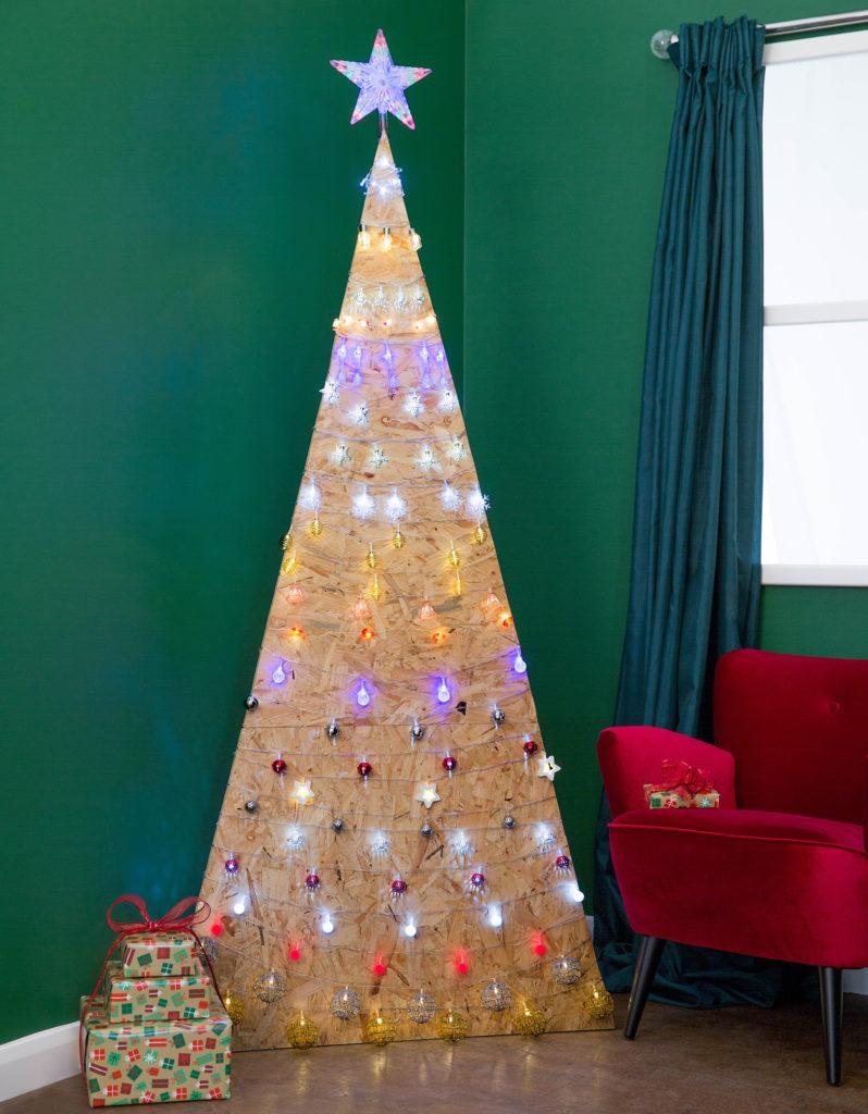 MDF Christmas Tree with lights