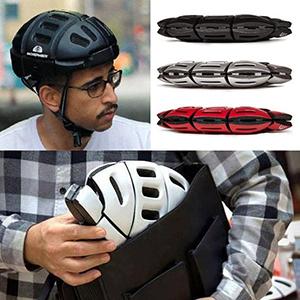 Bike helmet that can flatten