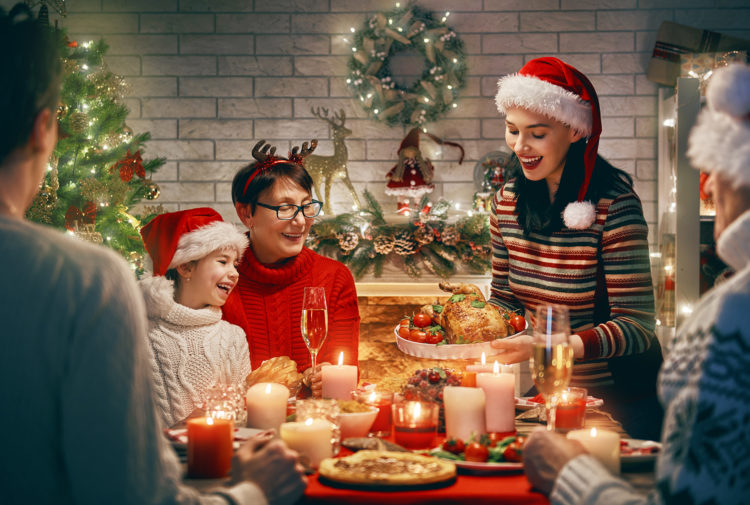 Family enjoying Christmas dinner Pic: Istockphoto