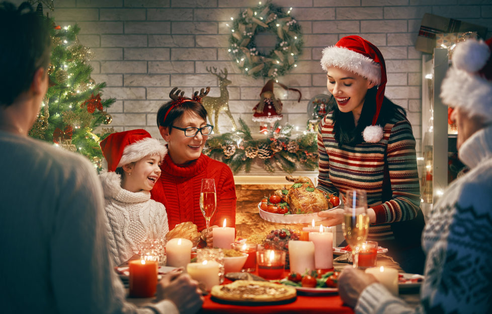 Family enjoying Christmas dinner Pic: Istockphoto