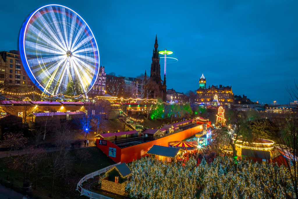 A view overlooking the Christmas Market in Edinburgh Pic: Istockphoto