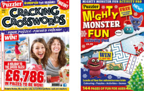 Cracking Crosswords and Mighty Monster Fun puzzle mag covers