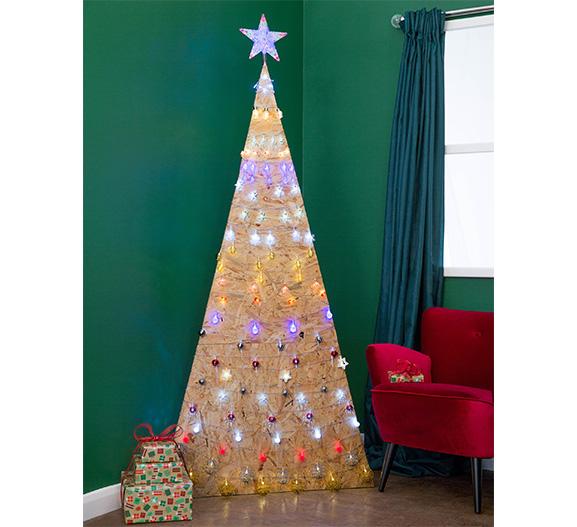 Poundland MDF tree with lights