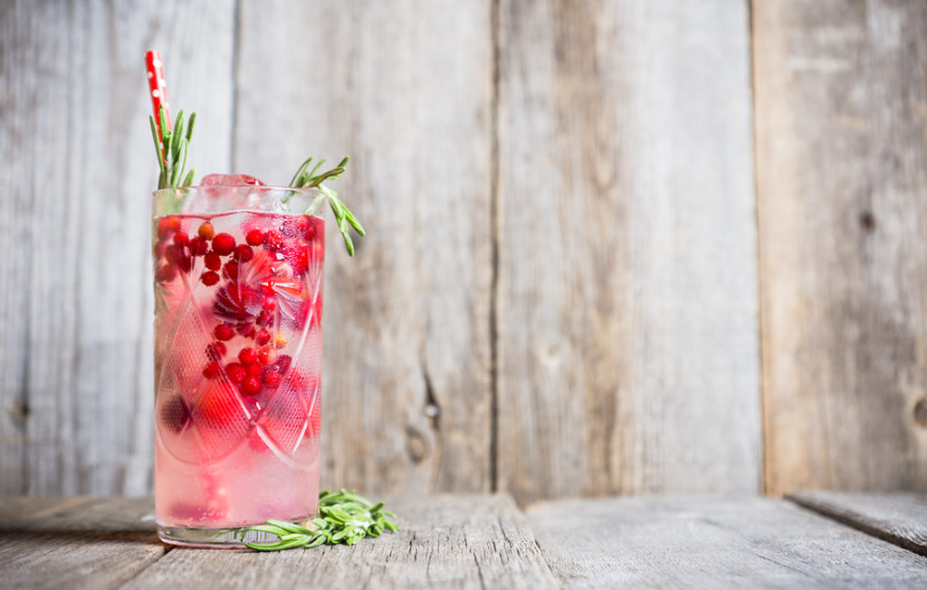 Delicious looking cocktail with cranberries Pic: Istockphoto