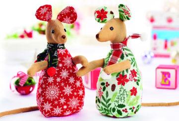 Handmade festive mice
