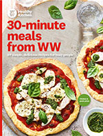 Cover of 30 minute meals from WW with image of chicken and pesto pizza