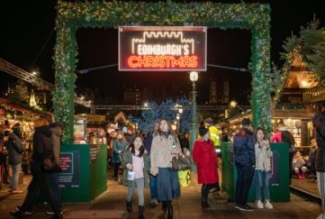 Princes Street Gardens Christmas Market Pic: Ian Georgeson
