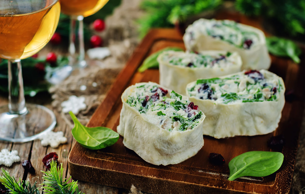 Spinach and ricotta roll ups